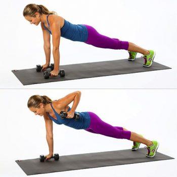 Bài tập Hammer Bicep Curls in Plank