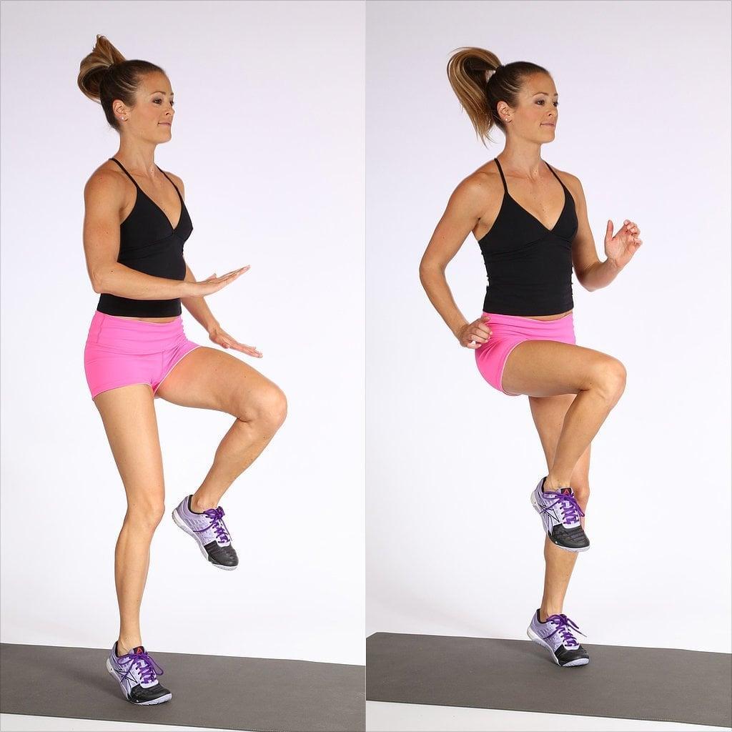 Bài tập giảm cân toàn thân cho nữ High Knees