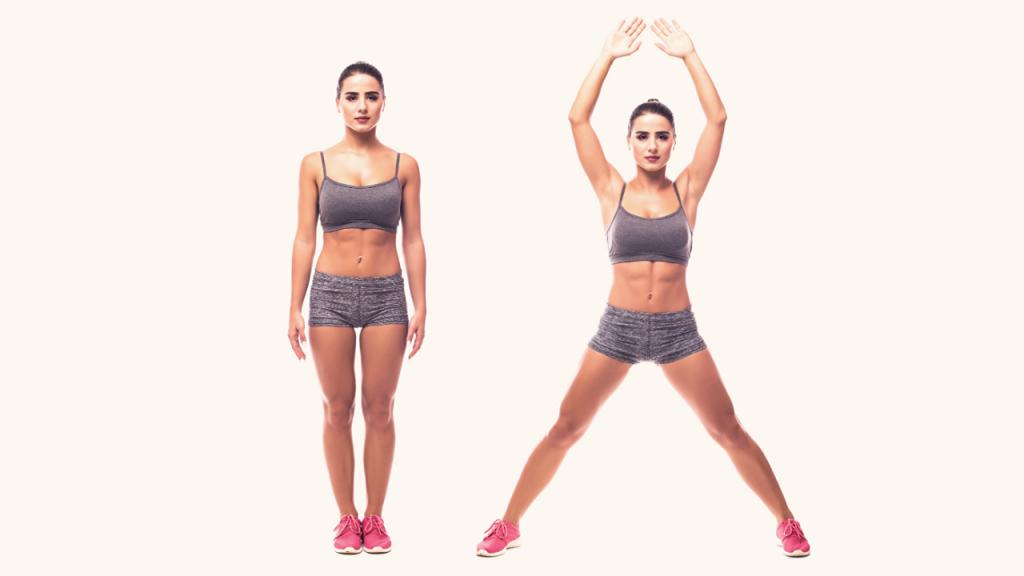 Bài tập giảm cân toàn thân cho nữ Jumping Jacks