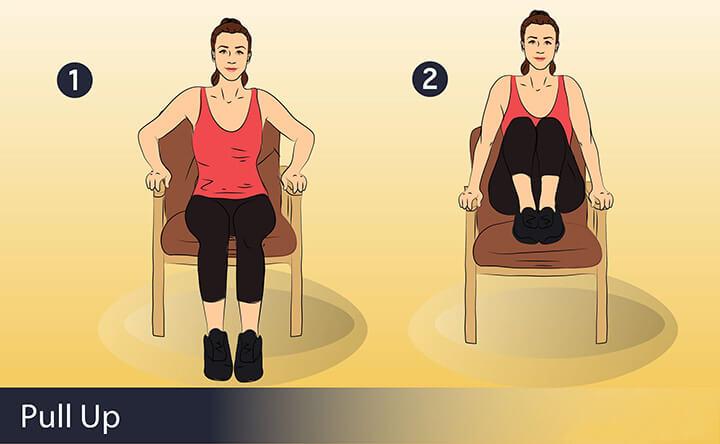 Bài tập dành cho người béo bụng Knee Pull Ups
