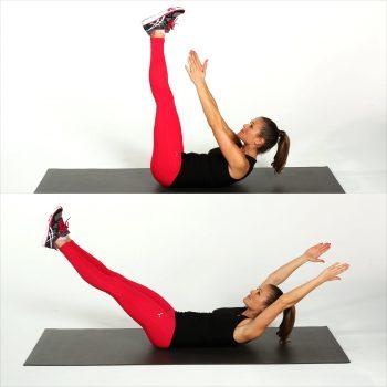 Bài tập thể dục giảm mỡ bụng dưới – V-crunches